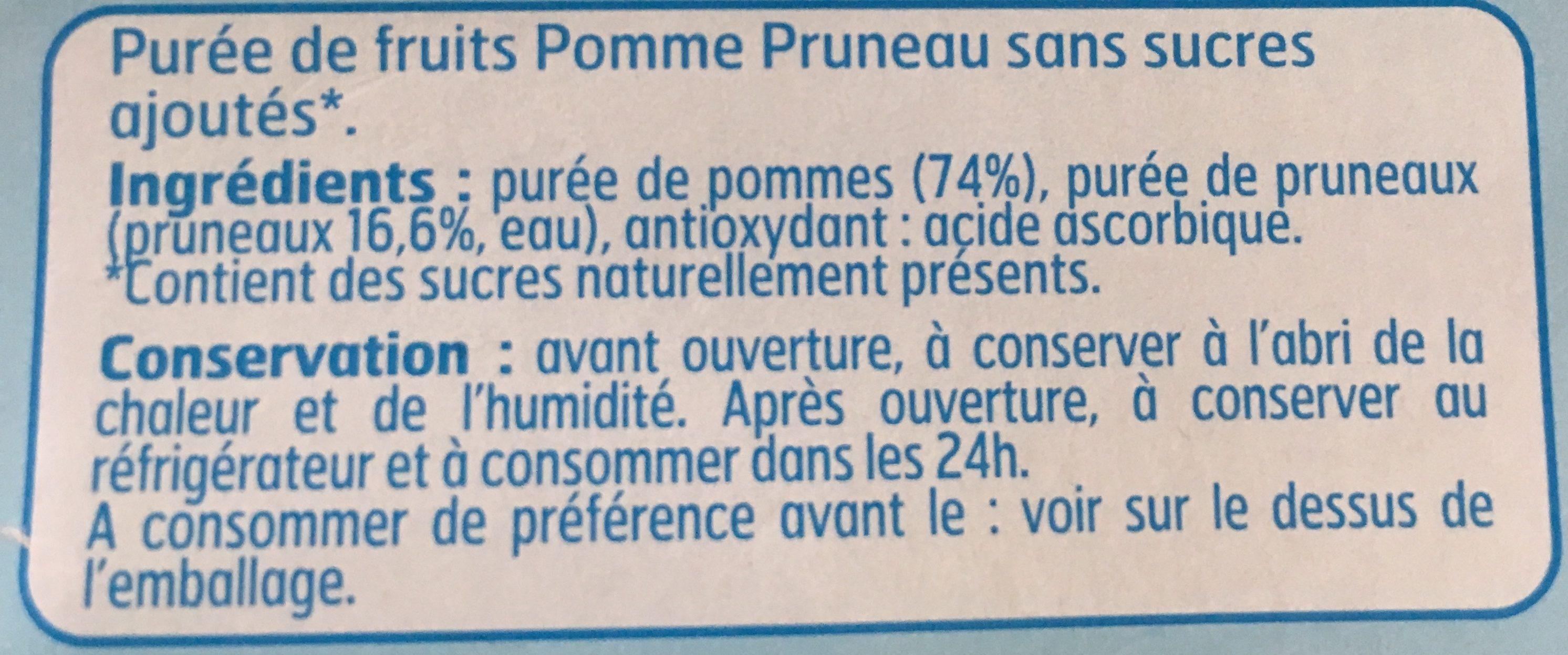 Compote Pom / Prun. S / S. - Ingrédients - fr