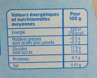 Compote Pom / Prun. S / S. - Informations nutritionnelles - fr