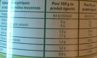 Bx58Cl.Asperges Blanches - Informations nutritionnelles - fr