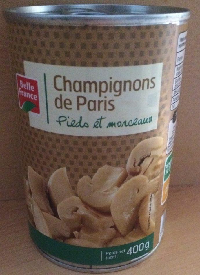 Champignons de Paris Pieds et Morceaux - Produit - fr