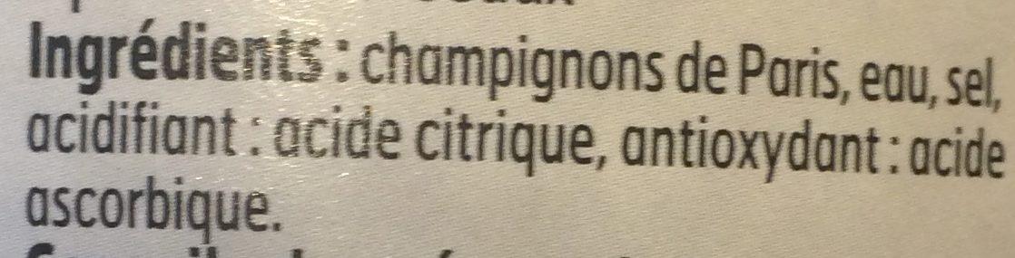 Champignons de Paris Pieds et Morceaux - Ingrédients - fr