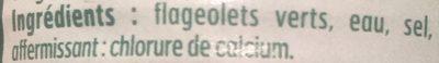 Flageolets verts - Ingrédients - fr
