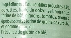 Lentilles, cuisinées - Ingredienti - fr