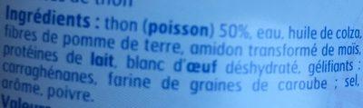 1X6 Rillette Thon Bf, - Ingredients - fr