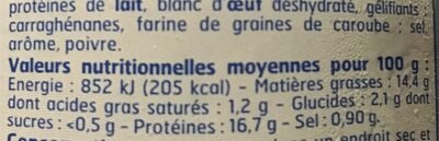 1X6 Rillette Thon Bf, - Nutrition facts - fr
