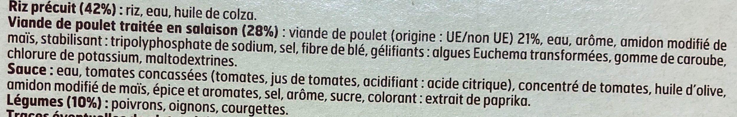 Poulet basquaise - Ingredients