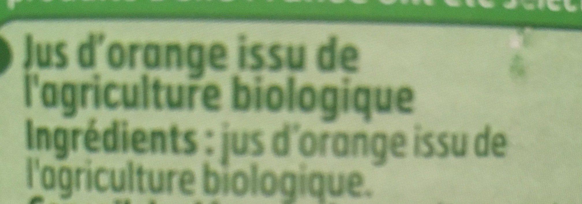 Pur jus d'orange - Ingredienti - fr