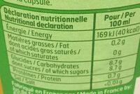 Pur jus d'orange - Valori nutrizionali - fr