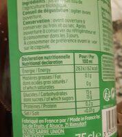 Pur jus de raison - Valori nutrizionali - fr