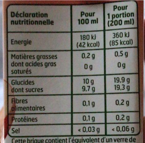 Briquettes Jus Pommes Abc 6X20CL - Valori nutrizionali - fr