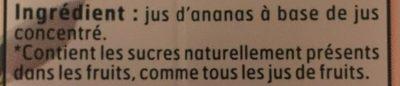 Jus Ananas - Ingrédients - fr