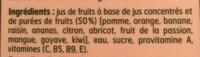 Nectar multifruits - Ingredients