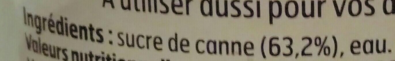 Sucre de Canne liquide - Ingrediënten - fr