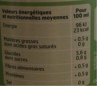 Citron avec Pulpe - Nutrition facts - fr