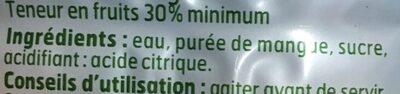 Jus de Mangue - Ingredienti - fr