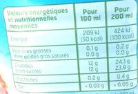 Nectar de Mangue - Nutrition facts