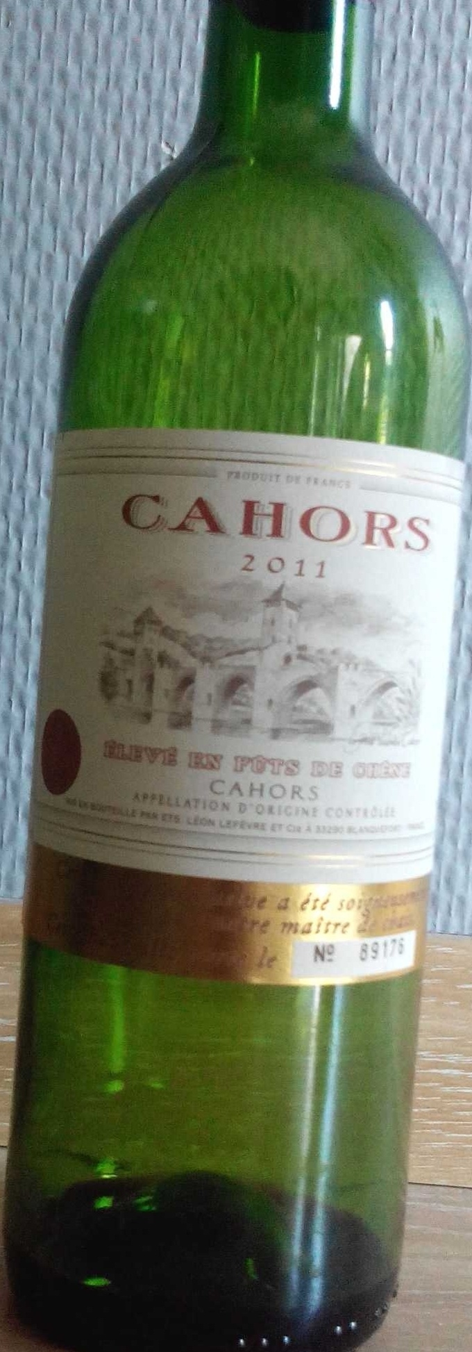 Cahors 2011 - Product