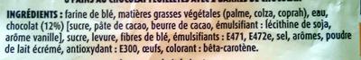 Pains au chocolat (x 8) 360 g - Ingrédients - fr