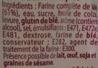 Pain de mie Complet - Ingredients