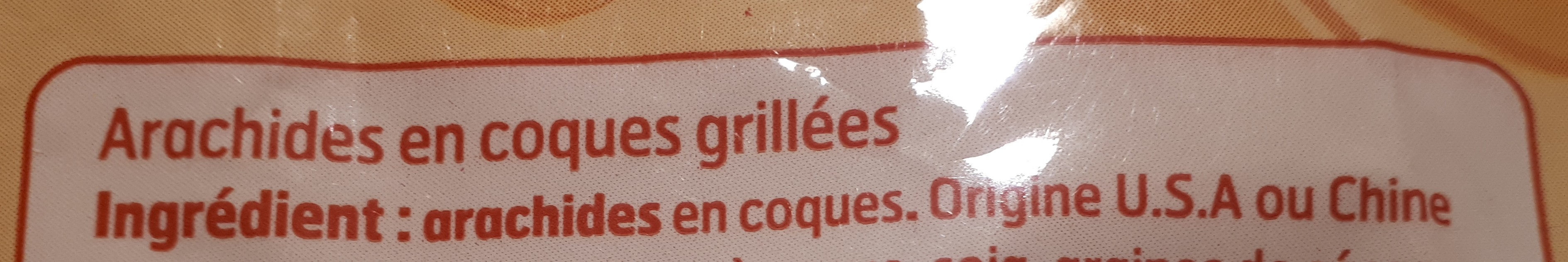 Arachides en coque grillées - Ingredients