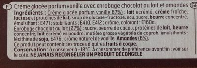 Géant Vanille - Ingredients - fr