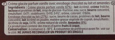 Géant Vanille - Ingrédients - fr