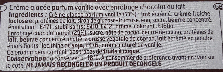 Géant Vanille Chocolat au lait - Ingrédients - fr