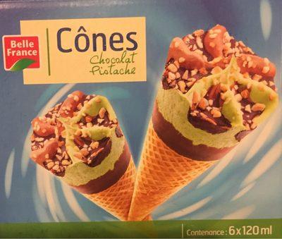 6 Cones Chocolat Pistache - Produit - fr