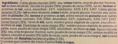 6 Cones Chocolat Pistache - Ingrédients - fr