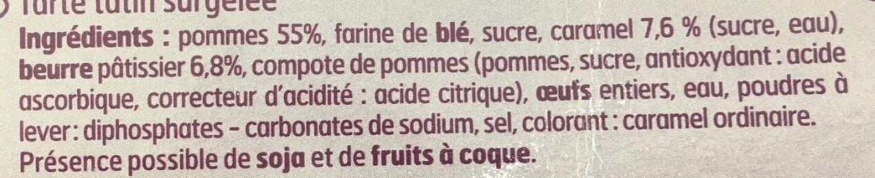 Tarte tatin - Ingredients