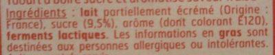 Yourt a Boire Saveur fraise. - Ingrédients - fr