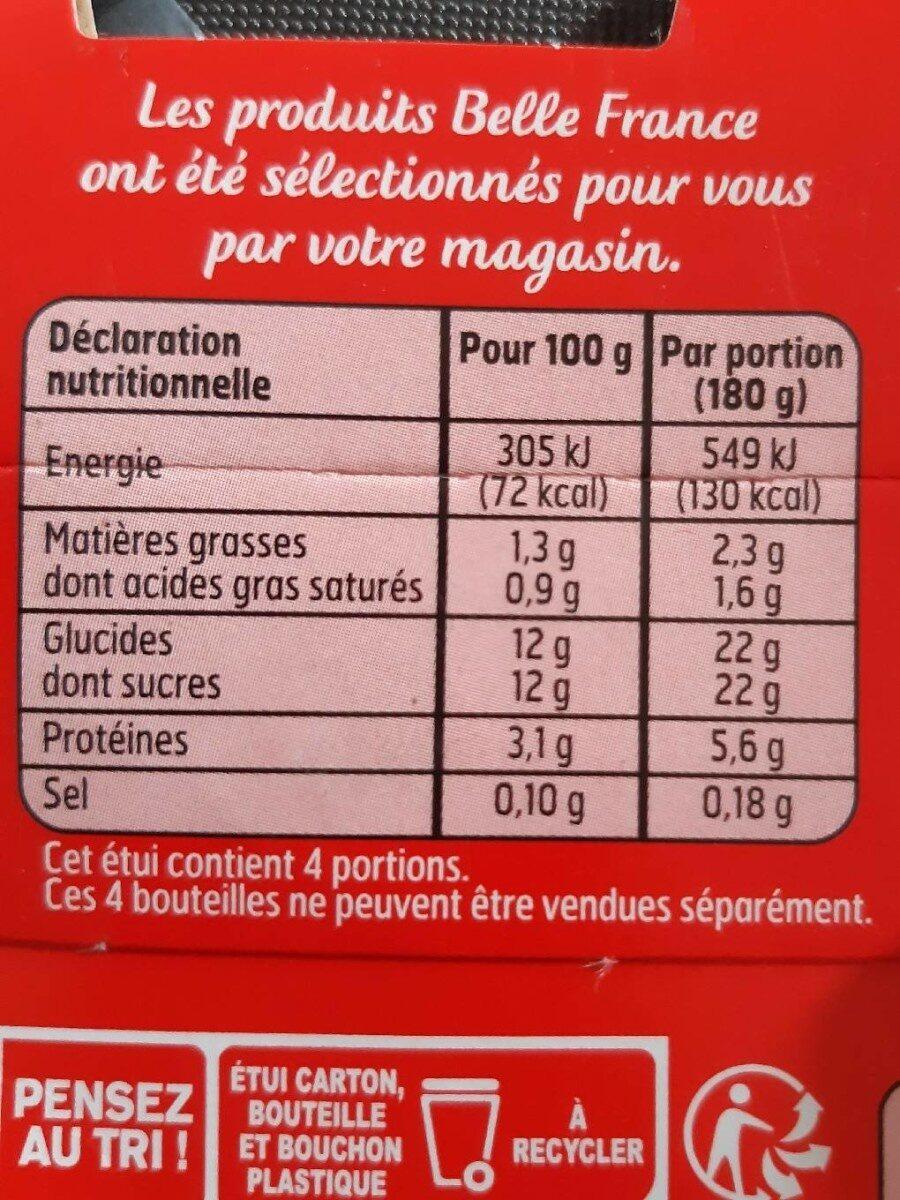 Yourt a Boire Saveur fraise. - Informations nutritionnelles - fr