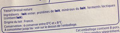 Y.nature Brasse 8X125G.Bf, - Ingrédients