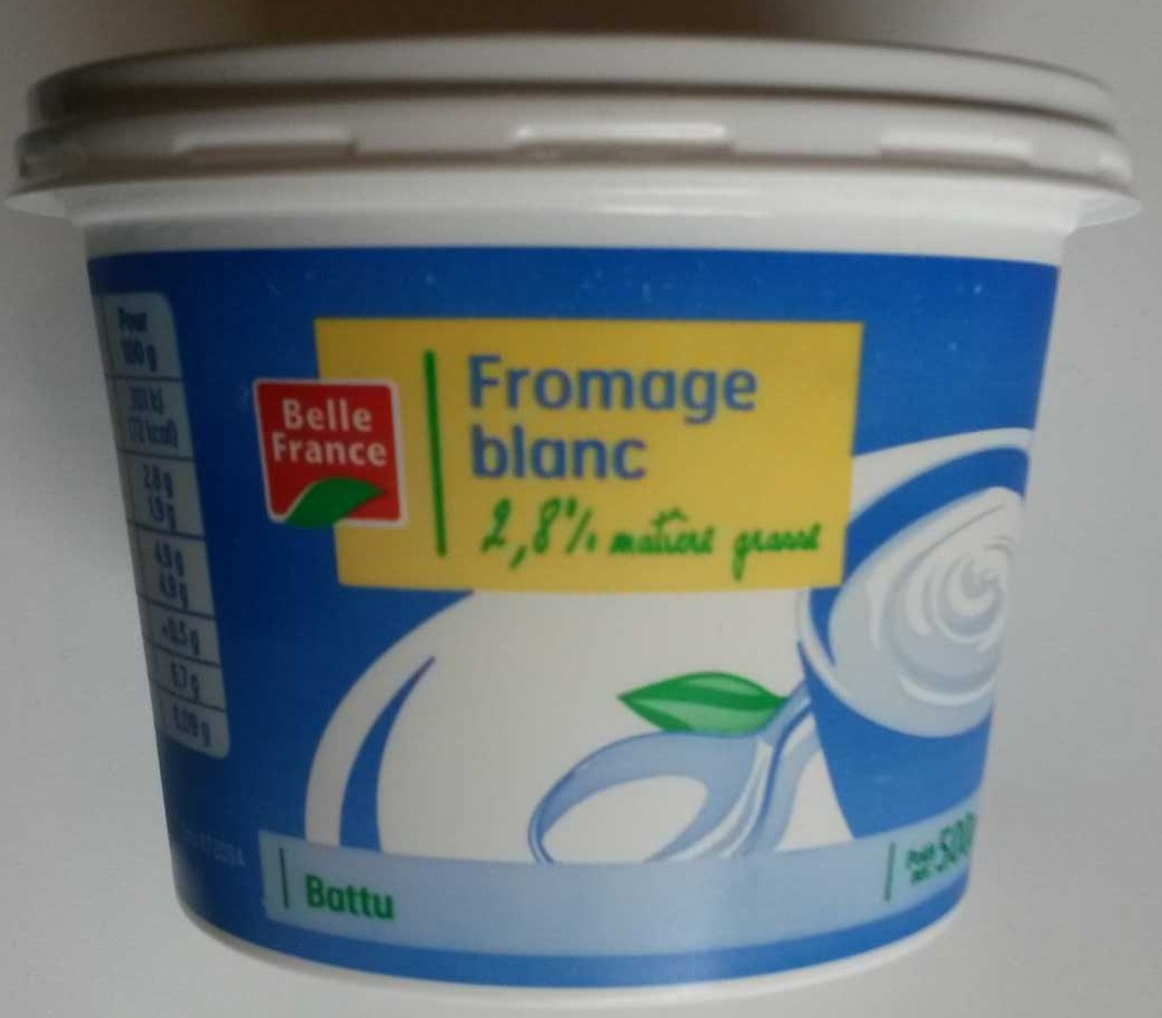 Fromage blanc (2,8% MG) - Produit - fr