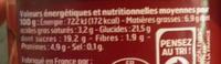 Mousse au chocolat noir Belle France - Informations nutritionnelles