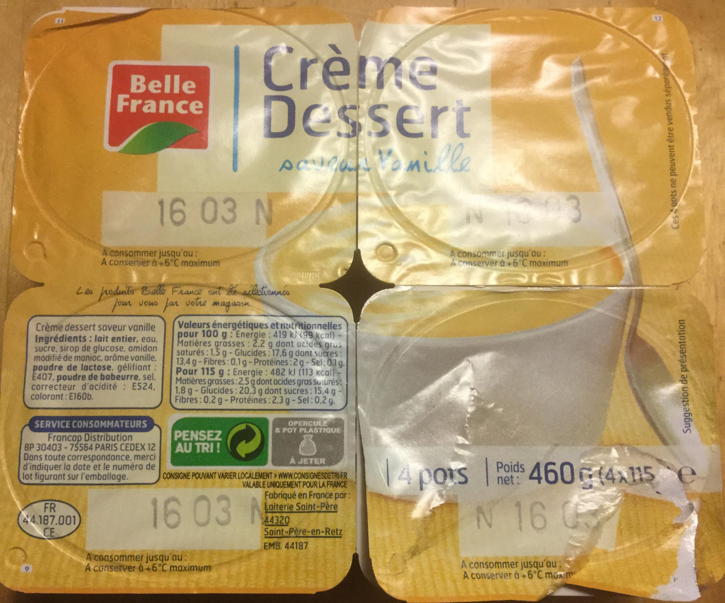 Crème dessert saveur vanille - Product - fr