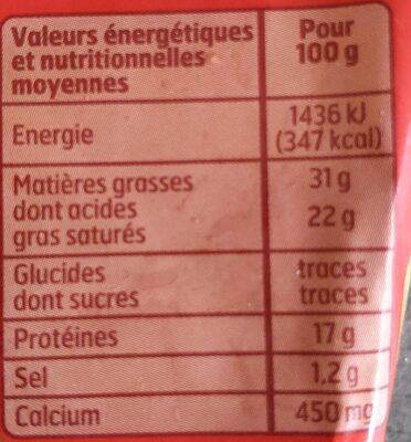 Pointe De Brie 200G - Nutrition facts - fr