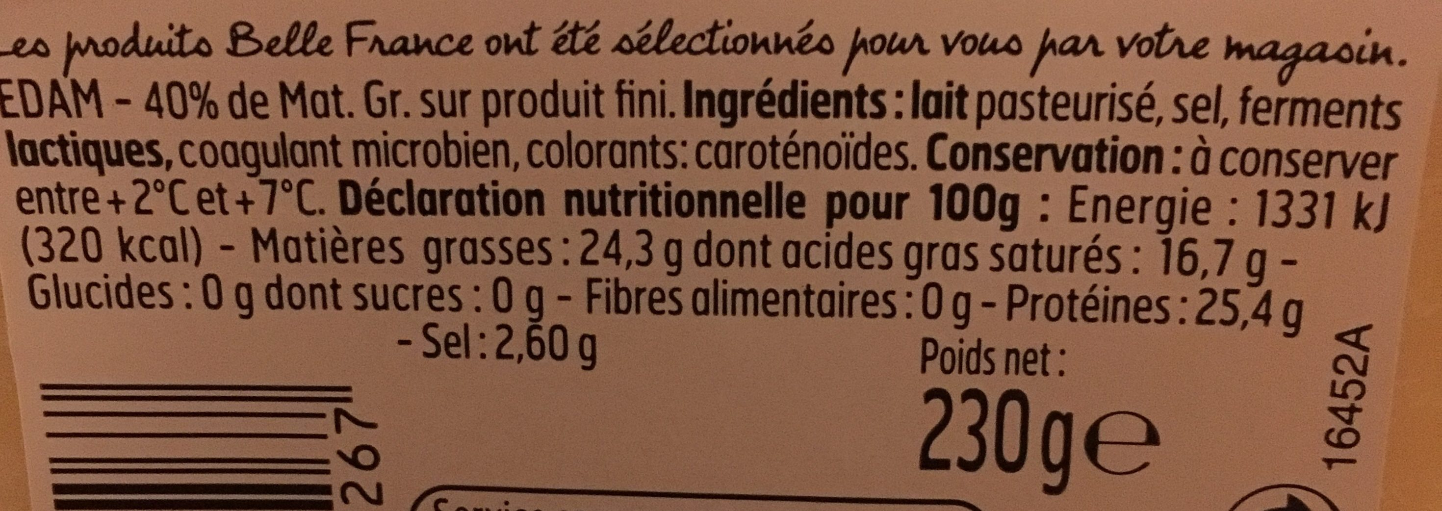 Edam - Ingredients