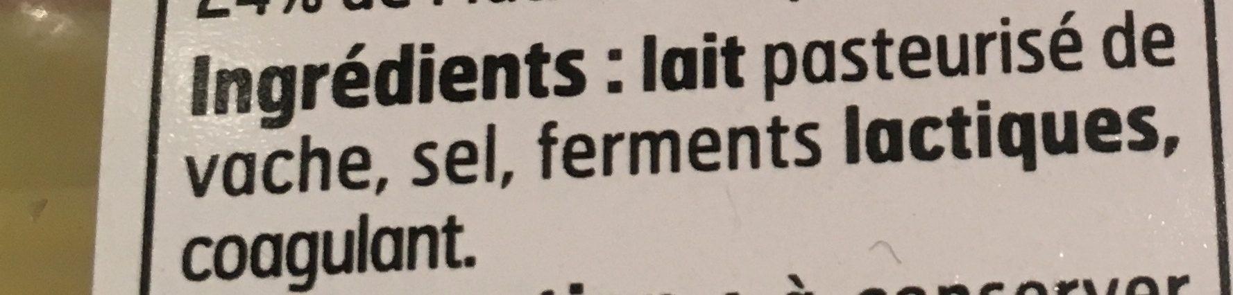 Edam - Ingrediënten - fr