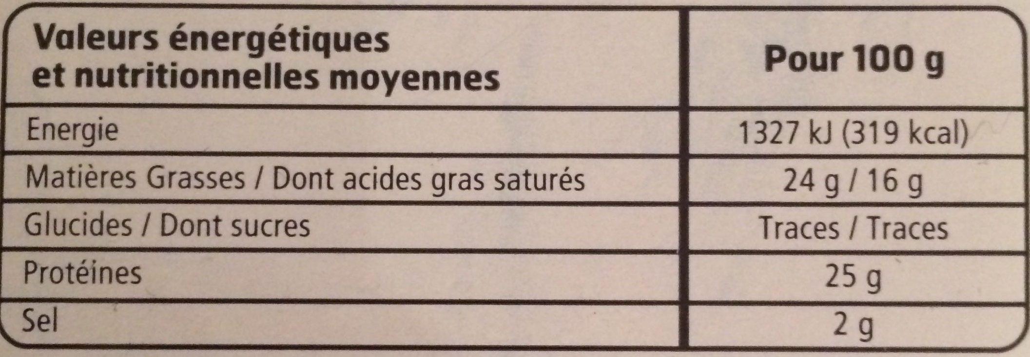Edam en tranches de Hollande (24% MG) - Voedingswaarden - fr