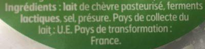 Fromage de chèvre Frais (12% MG) - Ingredients - fr