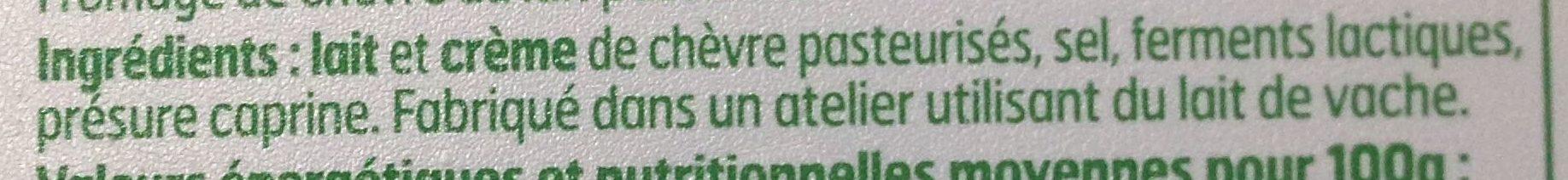 Fromage de Chèvre - Ingrédients - fr