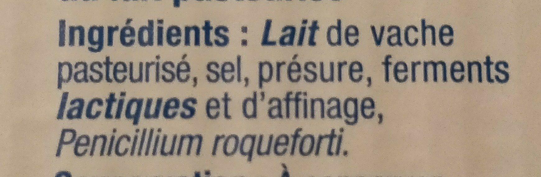 Bleu D'Auvergne 125G - Ingredients - fr