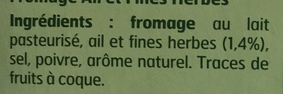 Fromage à tartiner, ail et fines herbes (24 % MG) - Ingrédients - fr