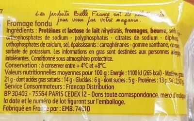 Tranche Croque Mr.X10 Bf, - Informations nutritionnelles - fr