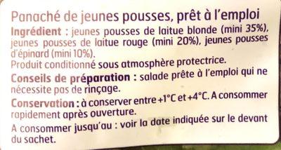 Panaché de jeunes pousses - Ingrediënten - fr