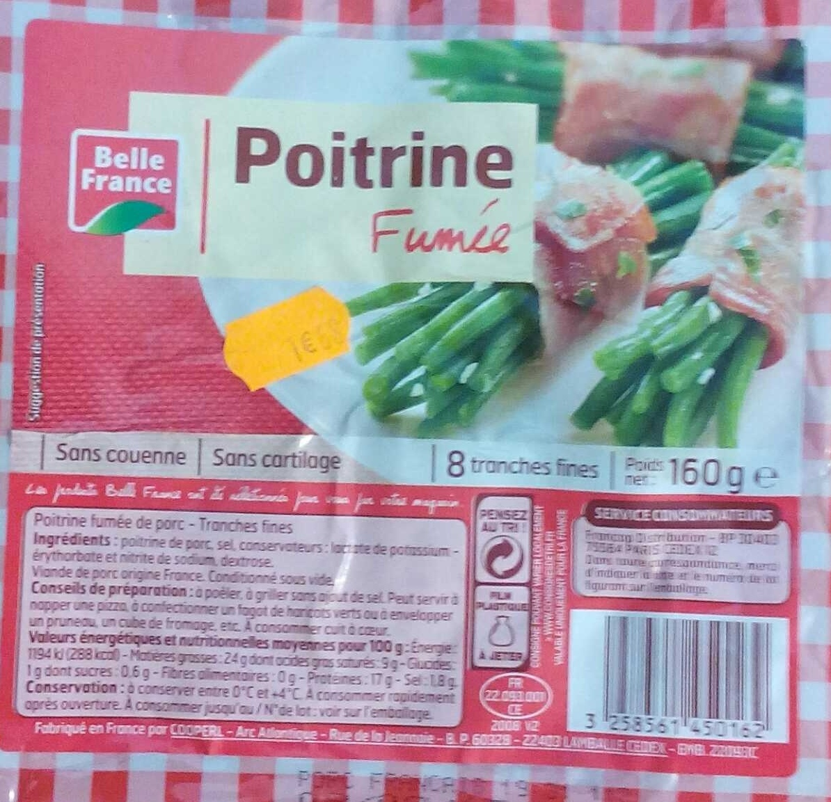 Poitrine Fumée (8 tranches fines) - Product - fr