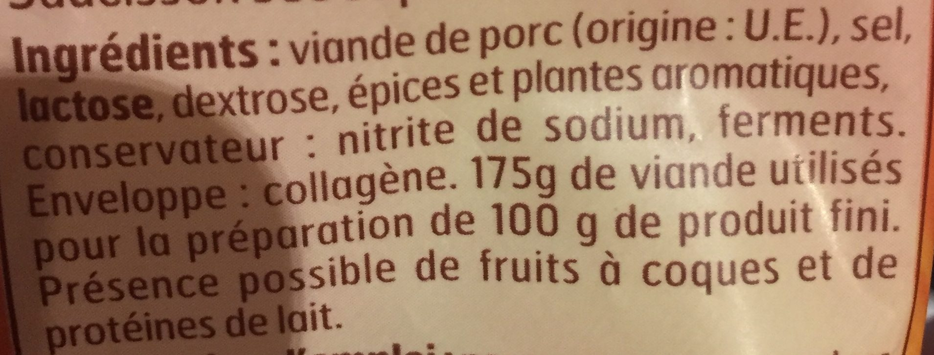 Mini saucissons secs - Ingredients - fr