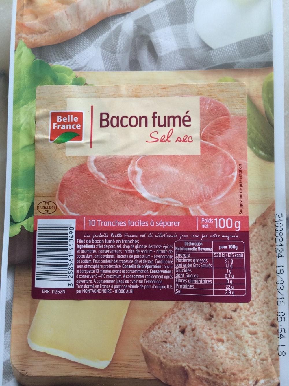 Bacon fumé sel sec - Produit