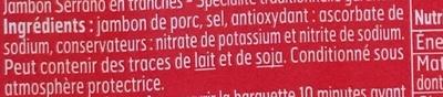 jambon serrano - Ingrédients